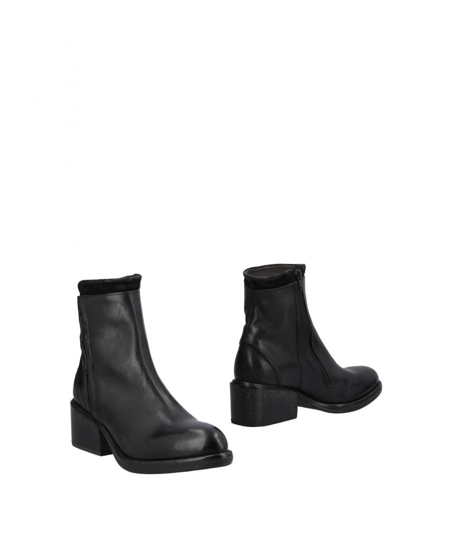 Image for Moma Black Leather Ankle Boots