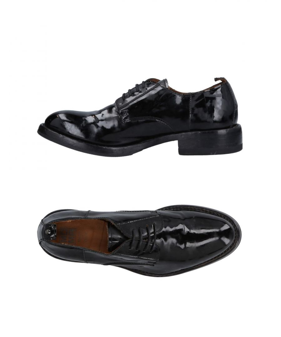 Image for Moma Black Leather Lace Up Shoes