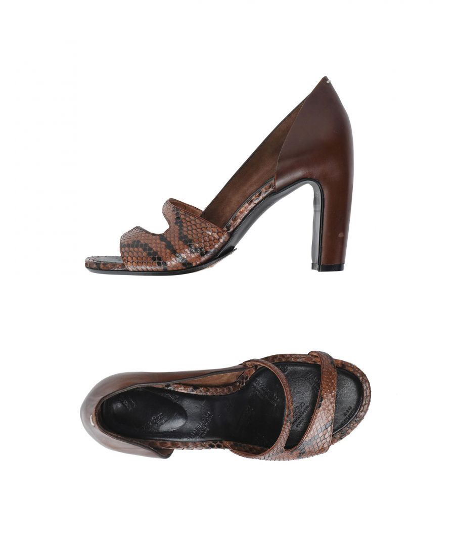 Image for FOOTWEAR Maison Margiela Dark brown Woman Reptile leather