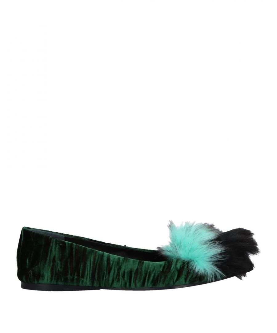 Image for Shy By Arvid Yuki Dark Green Ballet Pumps