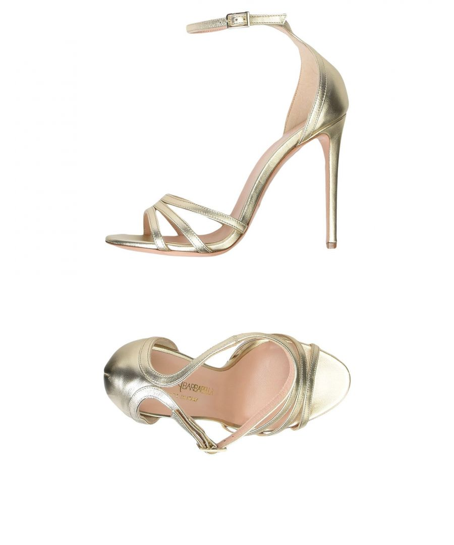Image for Marco Barbabella Platinum Leather Heeled Sandals