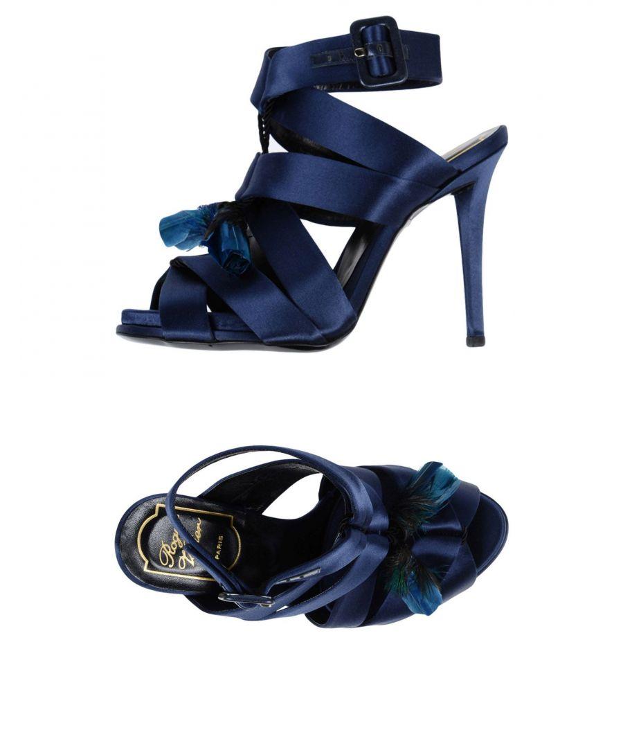 Image for Roger Vivier Blue Heeled Sandals