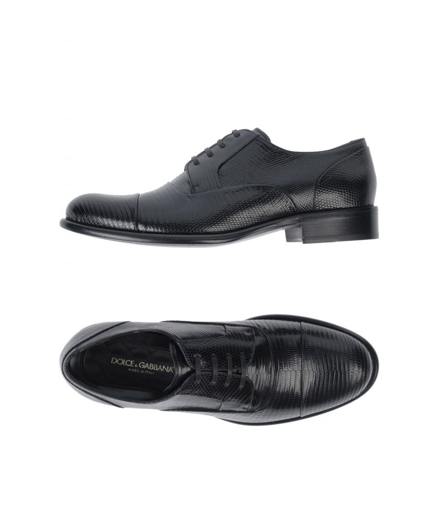 Image for Dolce & Gabbana Black Leather Lace Up Shoes