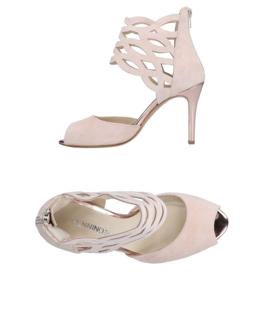 Image for Pennino Beige Leather Peeptoe Heels