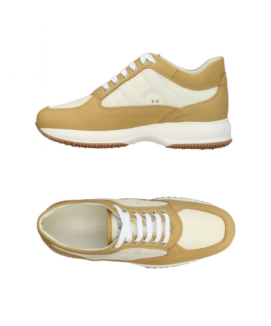 Image for Hogan Camel Leather Sneakers