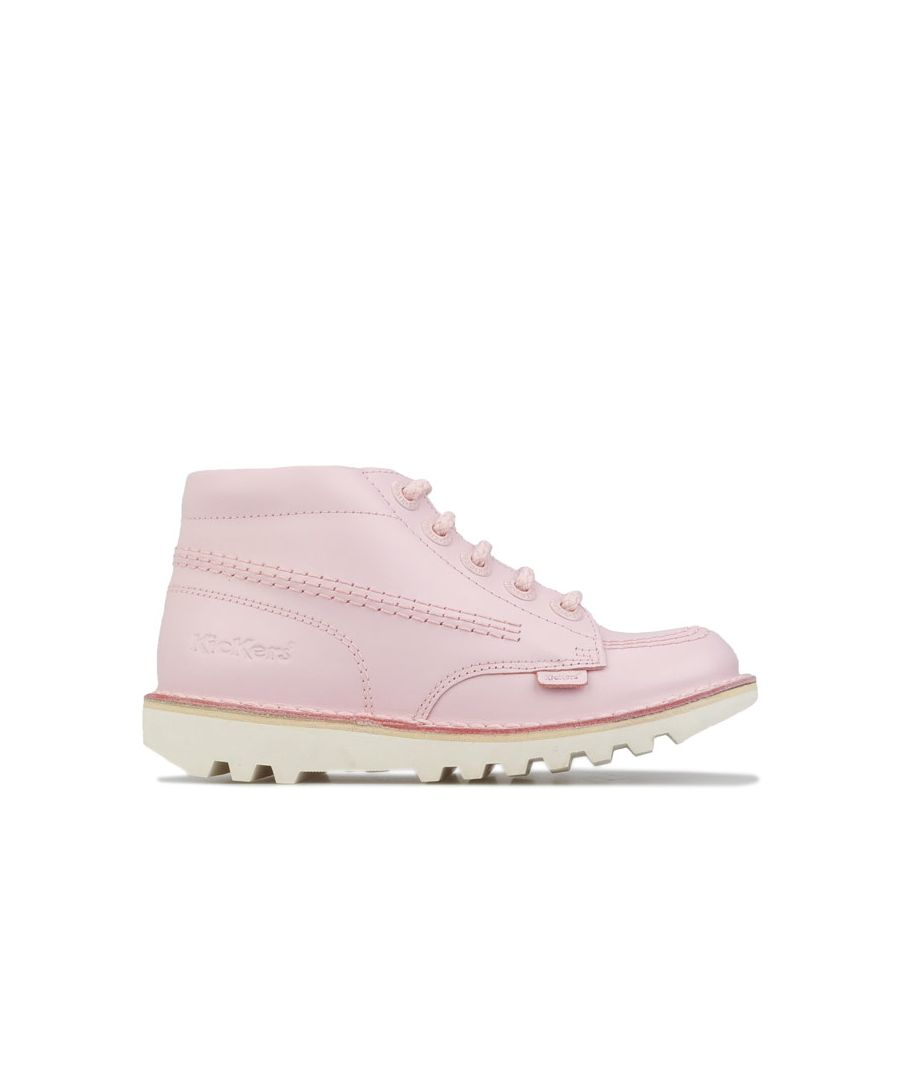 Image for Girl's Kickers Children Kick Hi Leather Boots in Pink
