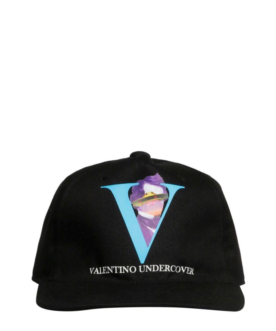 Image for VALENTINO MEN'S SY0HDA10CEU0NO BLACK COTTON HAT