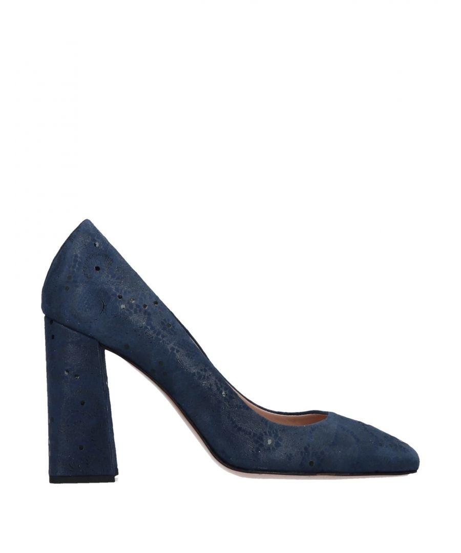 Image for Fiorangelo Blue Leather Heels