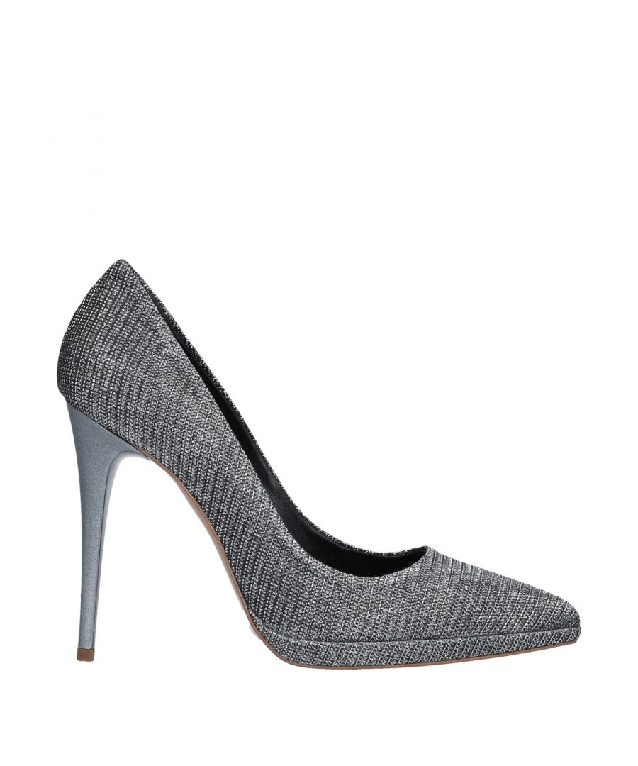 Image for Fiorangelo Silver Lame Court Shoe Heels