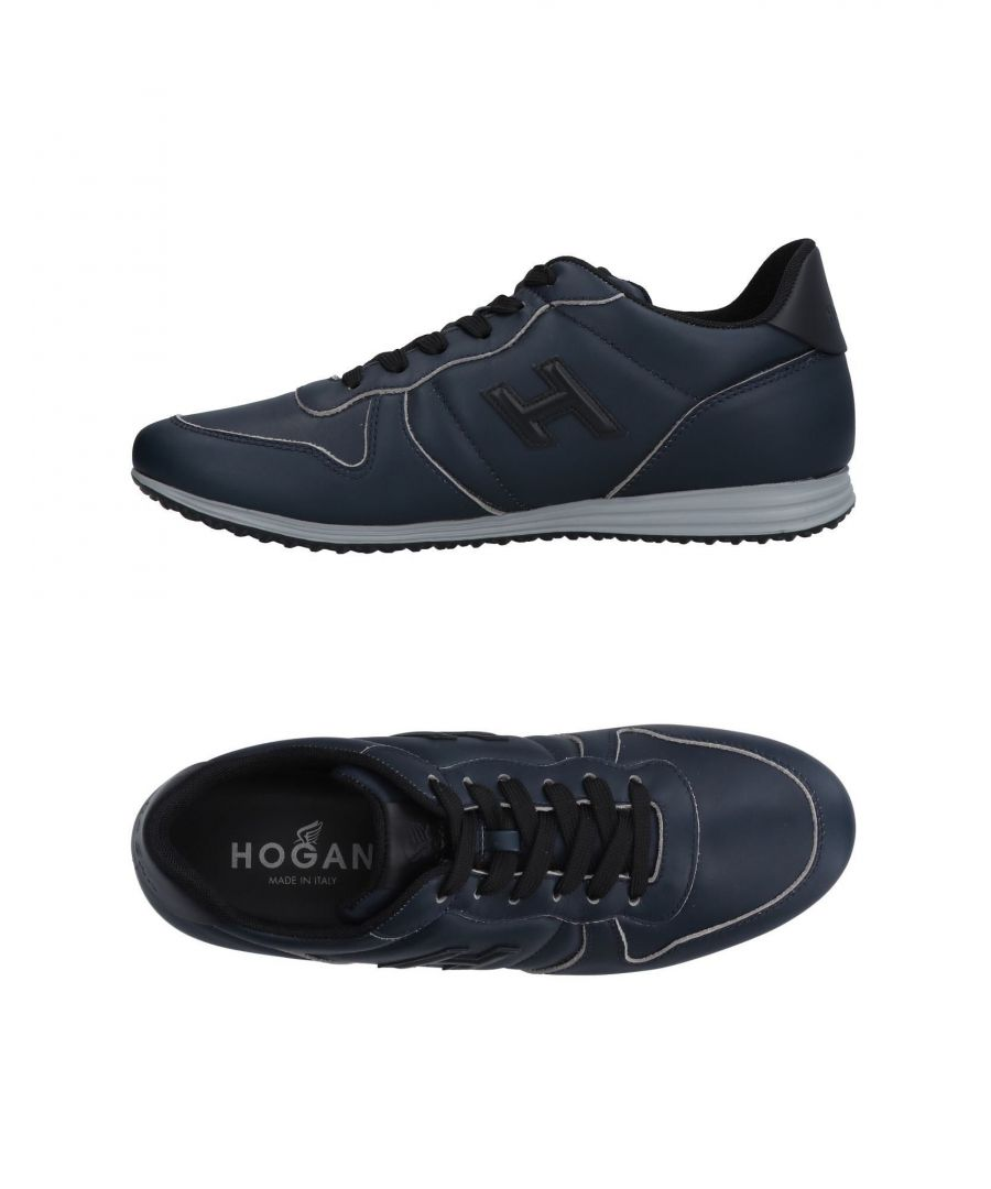 Image for Hogan Dark Blue Leather Sneakers