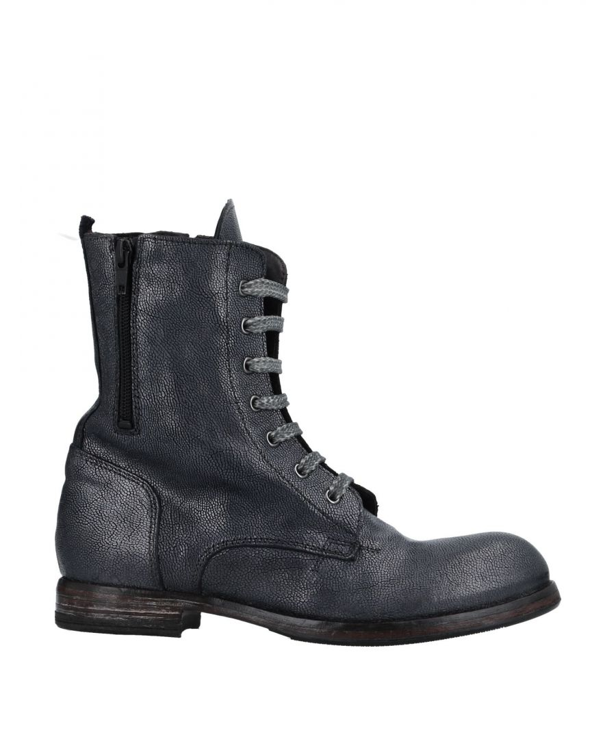 Image for Moma Slate Blue Leather Lace Up Boots