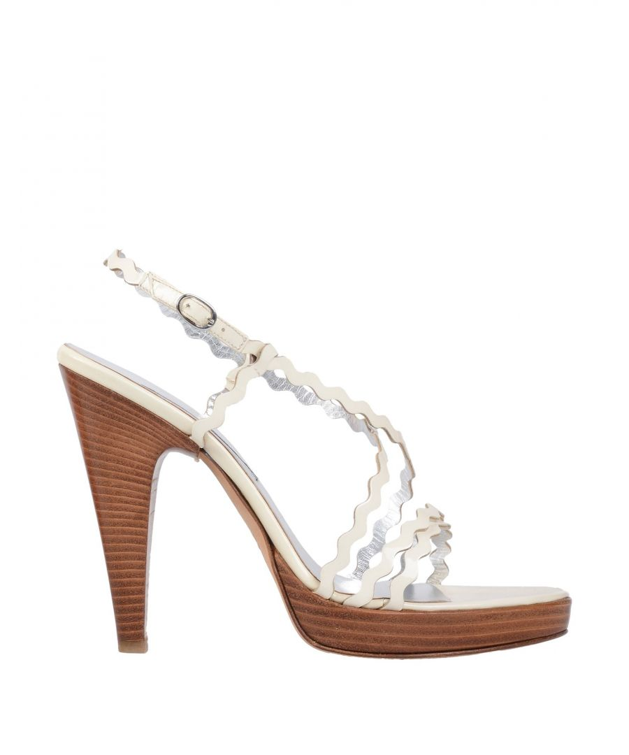 Image for Studio Pollini Ivory Leather Sandals