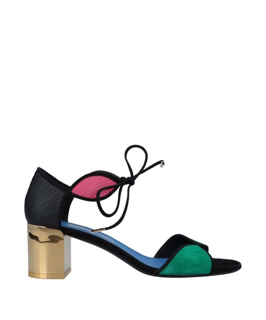 Image for Salvatore Ferragamo Green Calf Leather Heeled Sandals