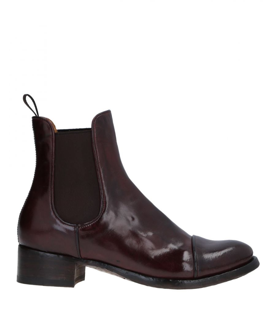 Image for Officine Creative Italia Maroon Polished Leather Ankle Boots