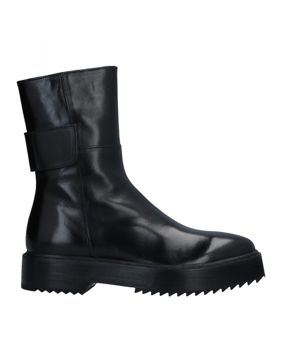 Image for Officine Creative Italia Black Polished Leather Boots
