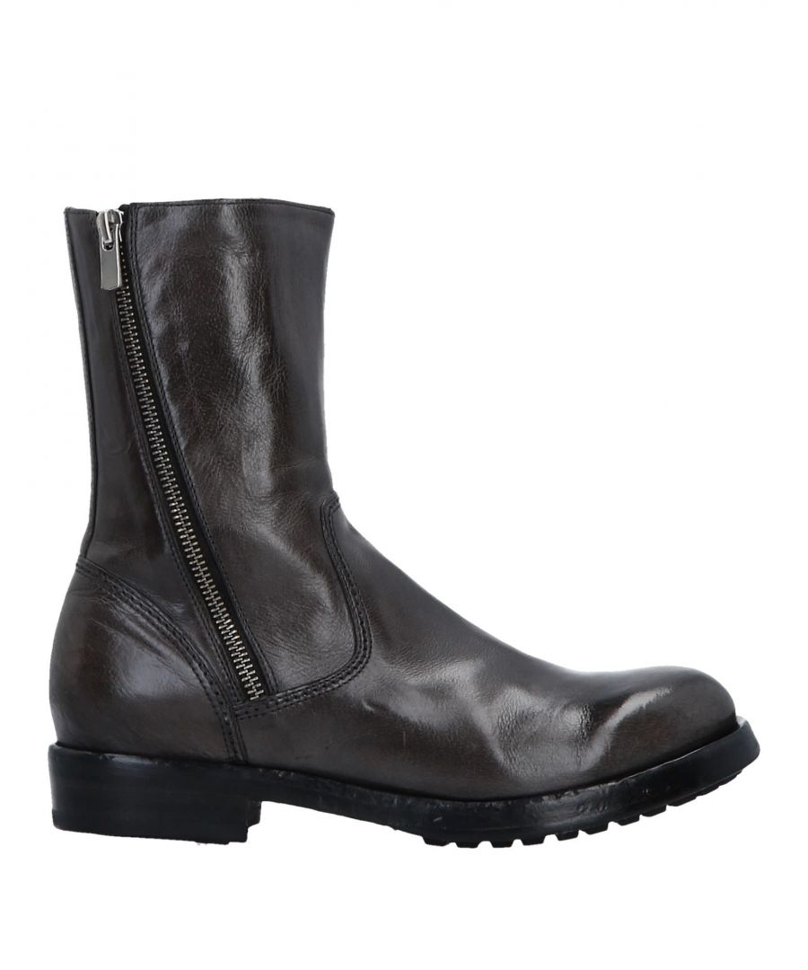 Image for Officine Creative Italia Lead Polished Leather Boots