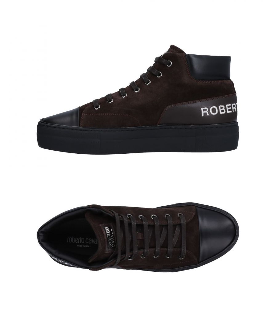 Image for Roberto Cavalli Dark Brown Leather Sneakers