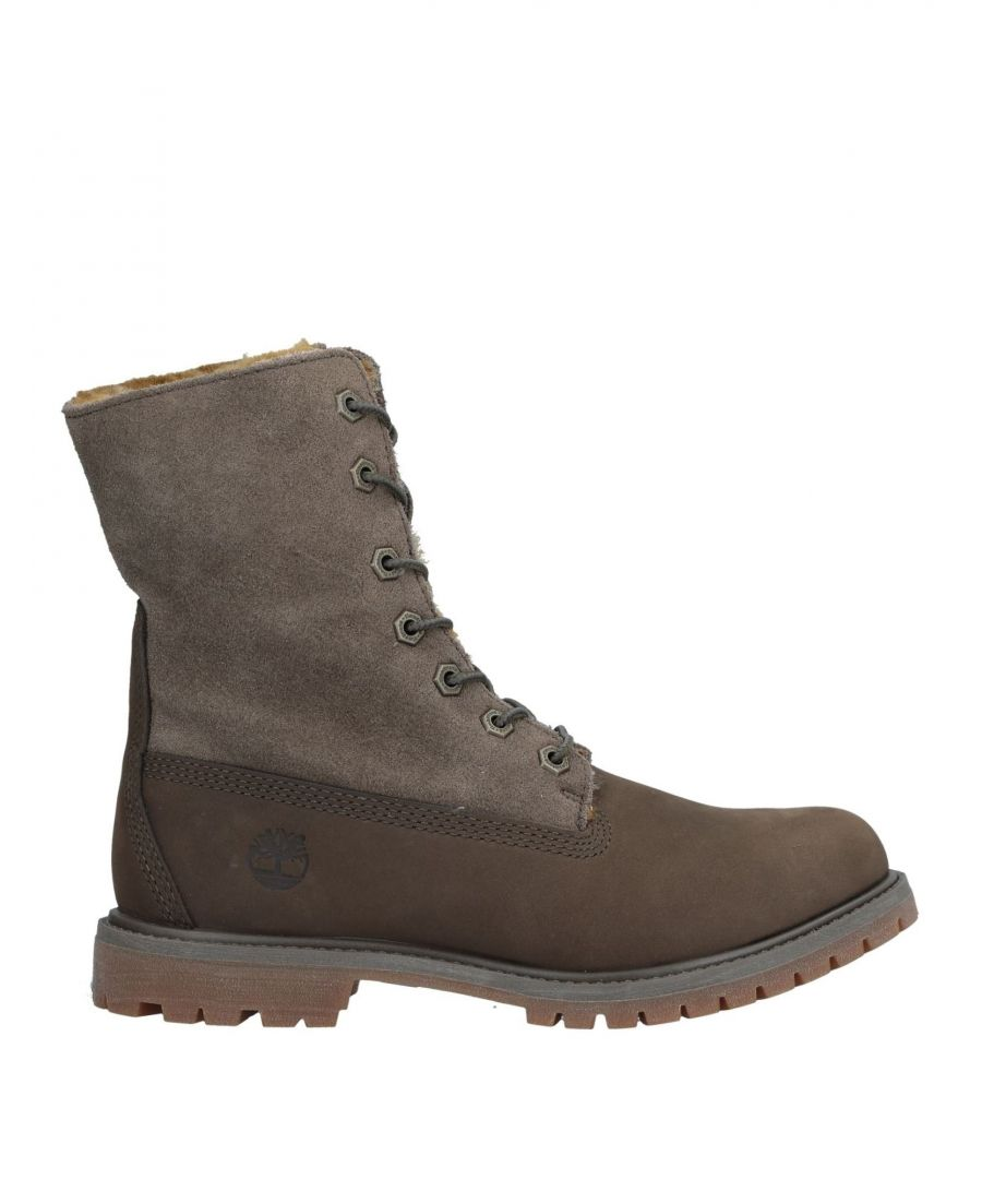 Image for Timberland Military Green Leather Lace Up Boots