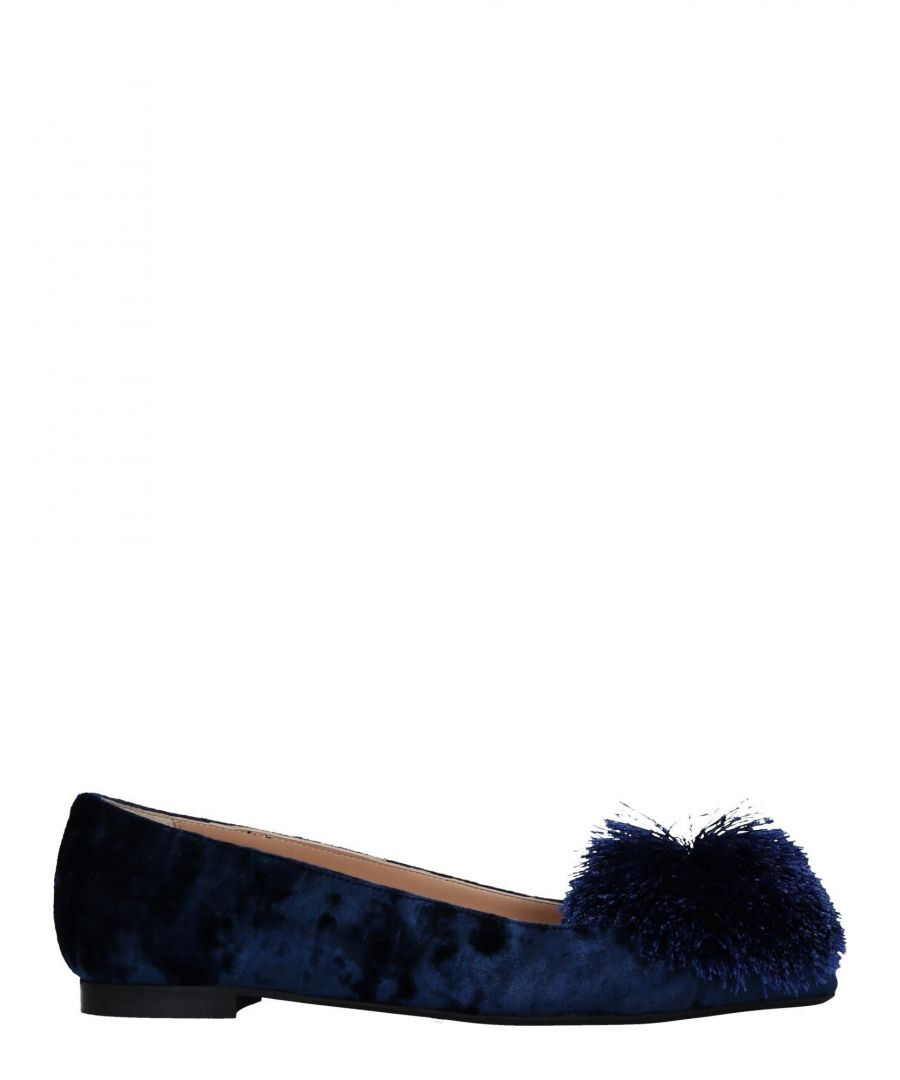 Image for Marco Barbabella Dark Blue Ballet Pumps