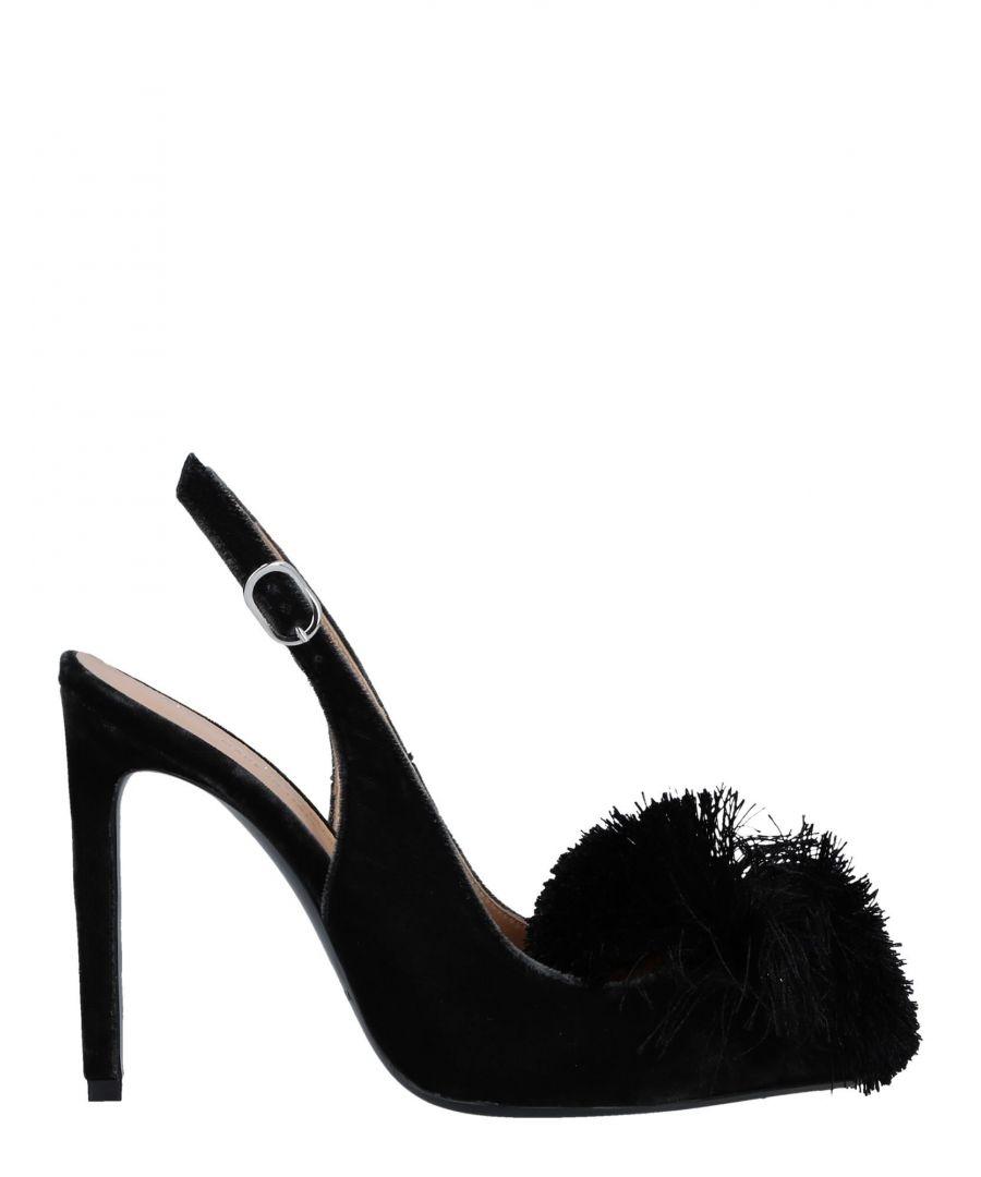 Image for Marco Barbabella Black Velvet Slingback Heels