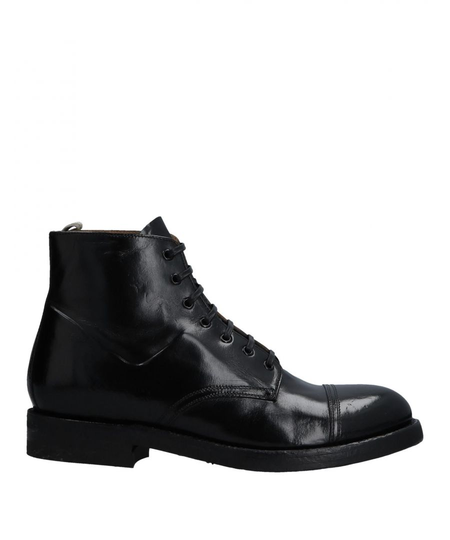 Image for Officine Creative Italia Black Leather Lace Up Boots