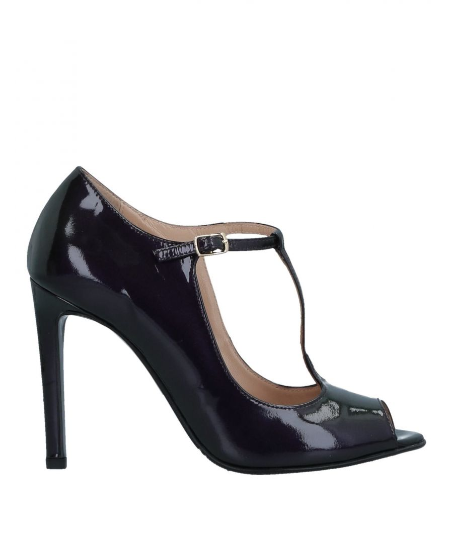 Image for Bruglia Deep Purple Peeptoe Mary Jane Heels