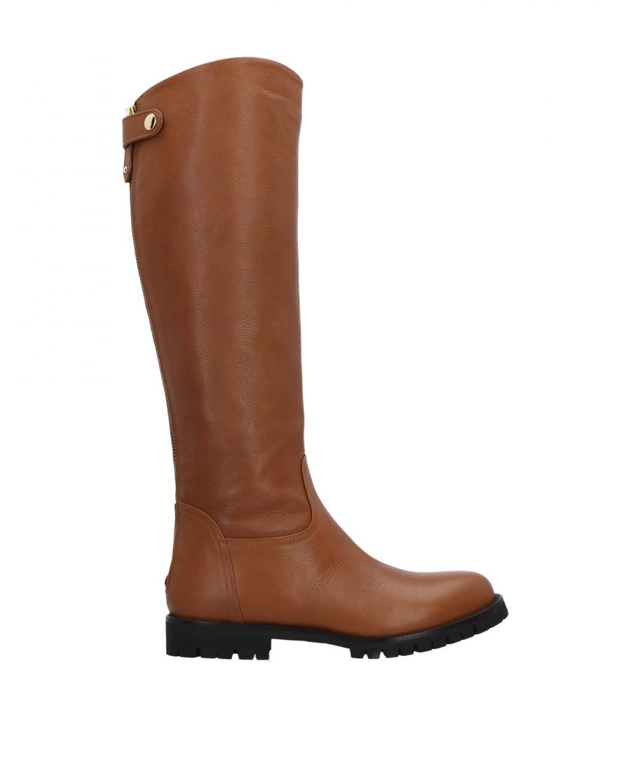 Image for Bruglia Camel Leather Knee High Boots