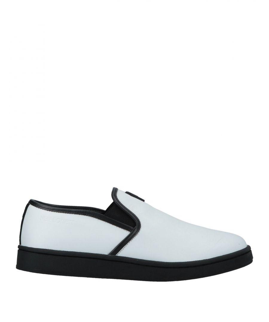Image for Neil Barrett White Leather Slip Ons