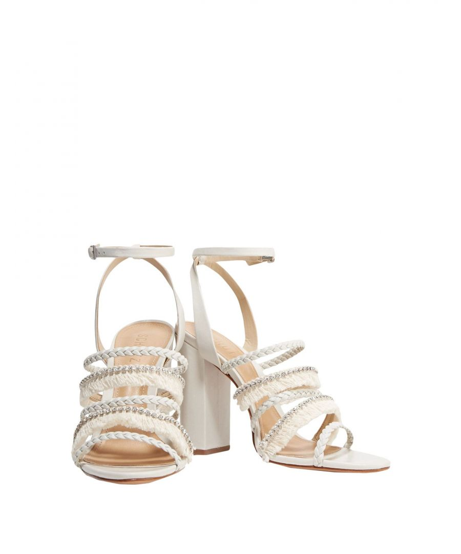 Image for Schutz Women's Sandals Light Grey Leather
