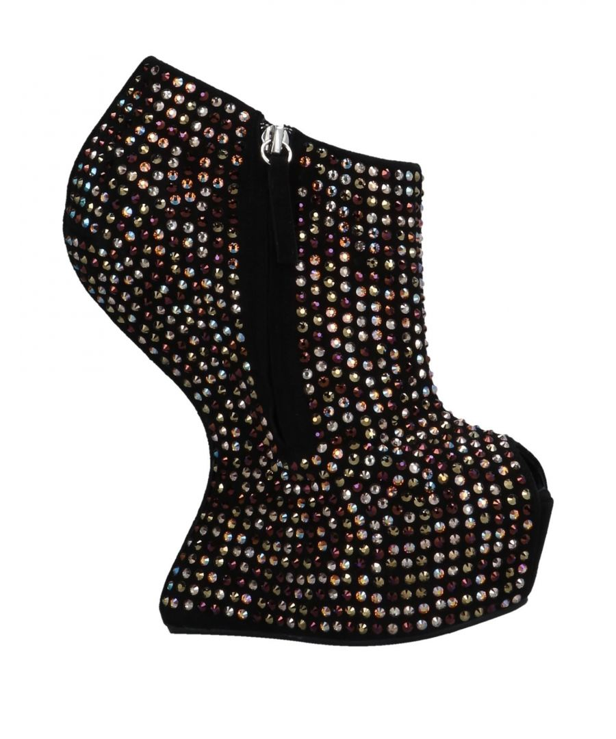 Image for Giuseppe Zanotti Black Leather Embellished Boots