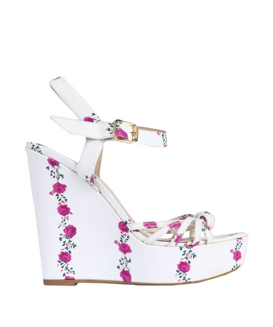 Image for Blugirl Blumarine White Wedge Heel Sandals