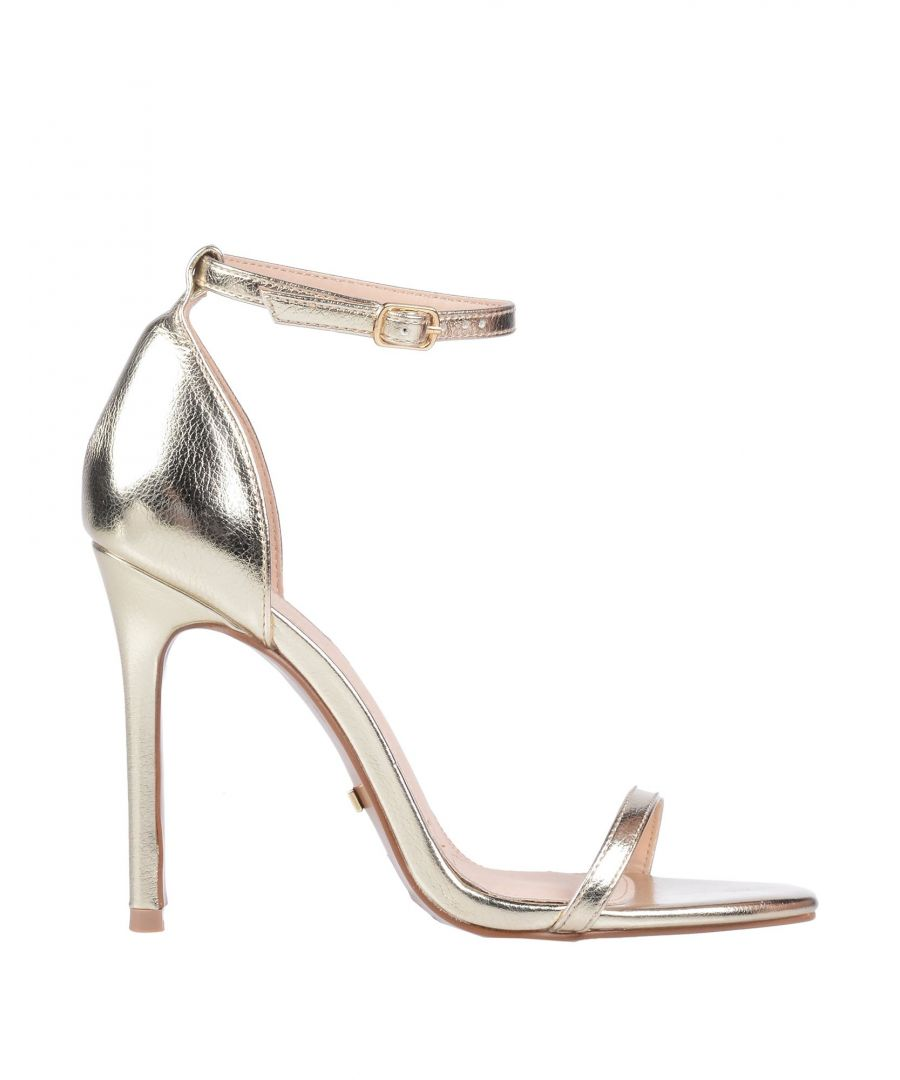 Image for Topshop Gold Faux Leather Heeled Sandals