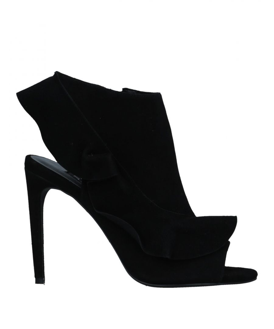 Image for Senso Black Leather Heels