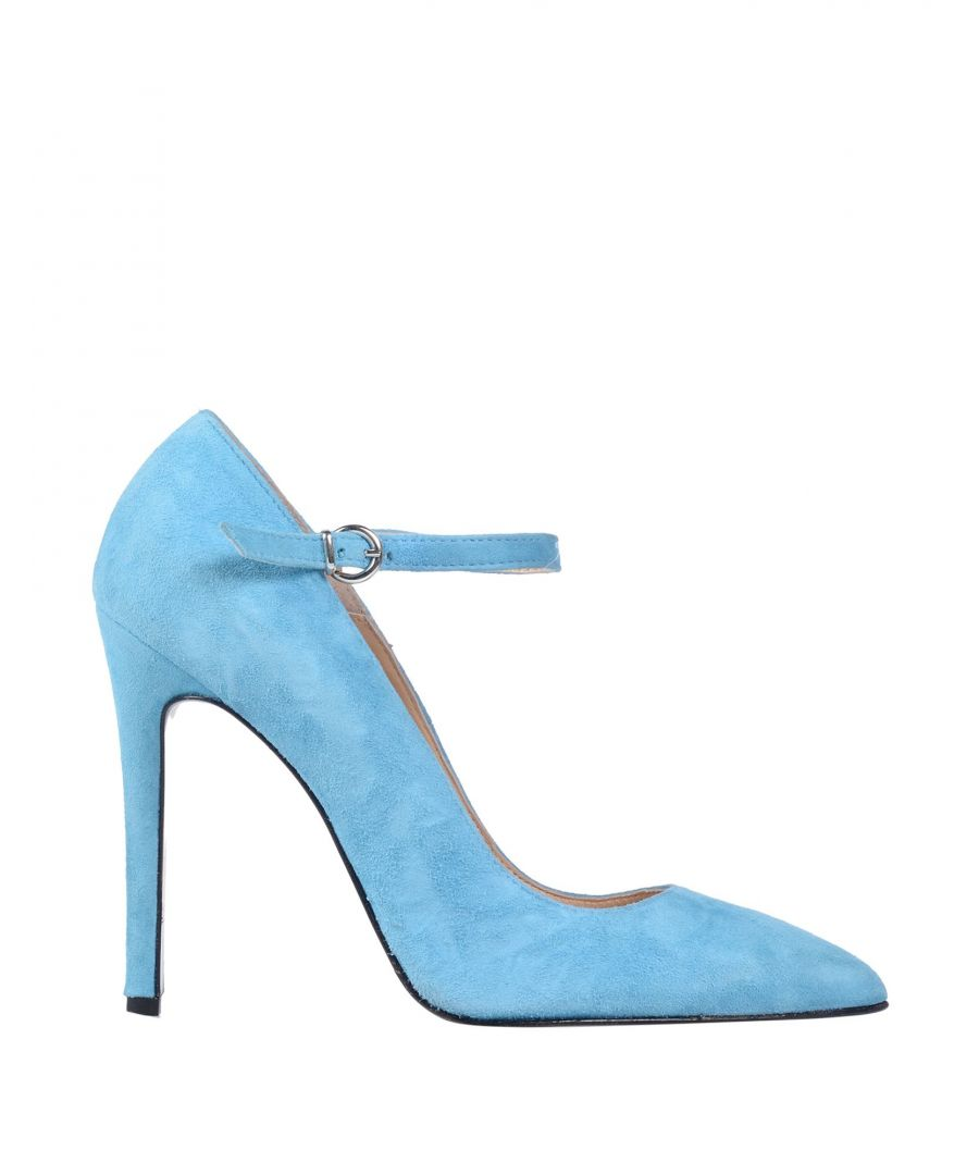 Image for Pinko Sky Blue Leather Pointed Heels