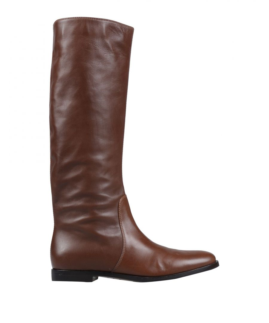 Image for Sergio Rossi Cocoa Leather Boots