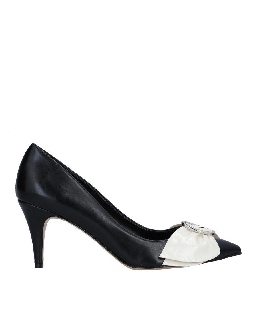 Image for Divine Follie Black Faux Leather Heels