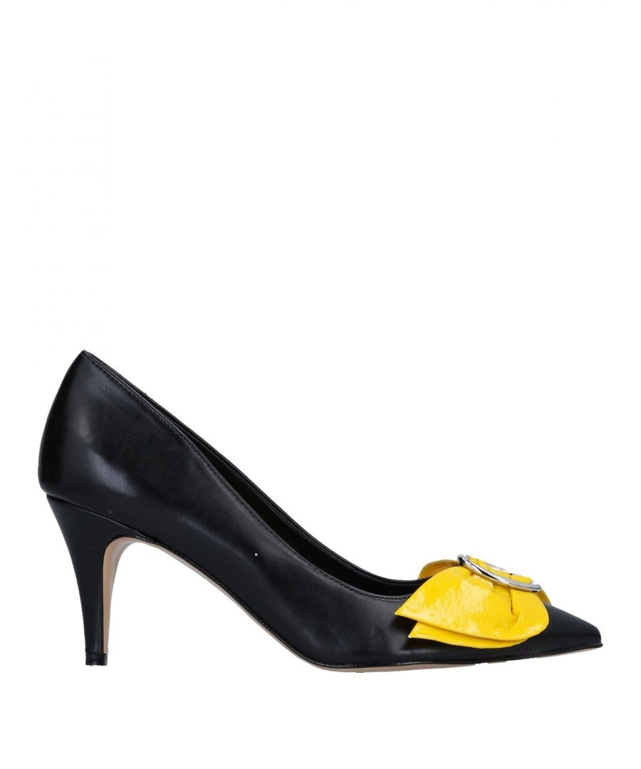 Image for Divine Follie Black Faux Leather Heels