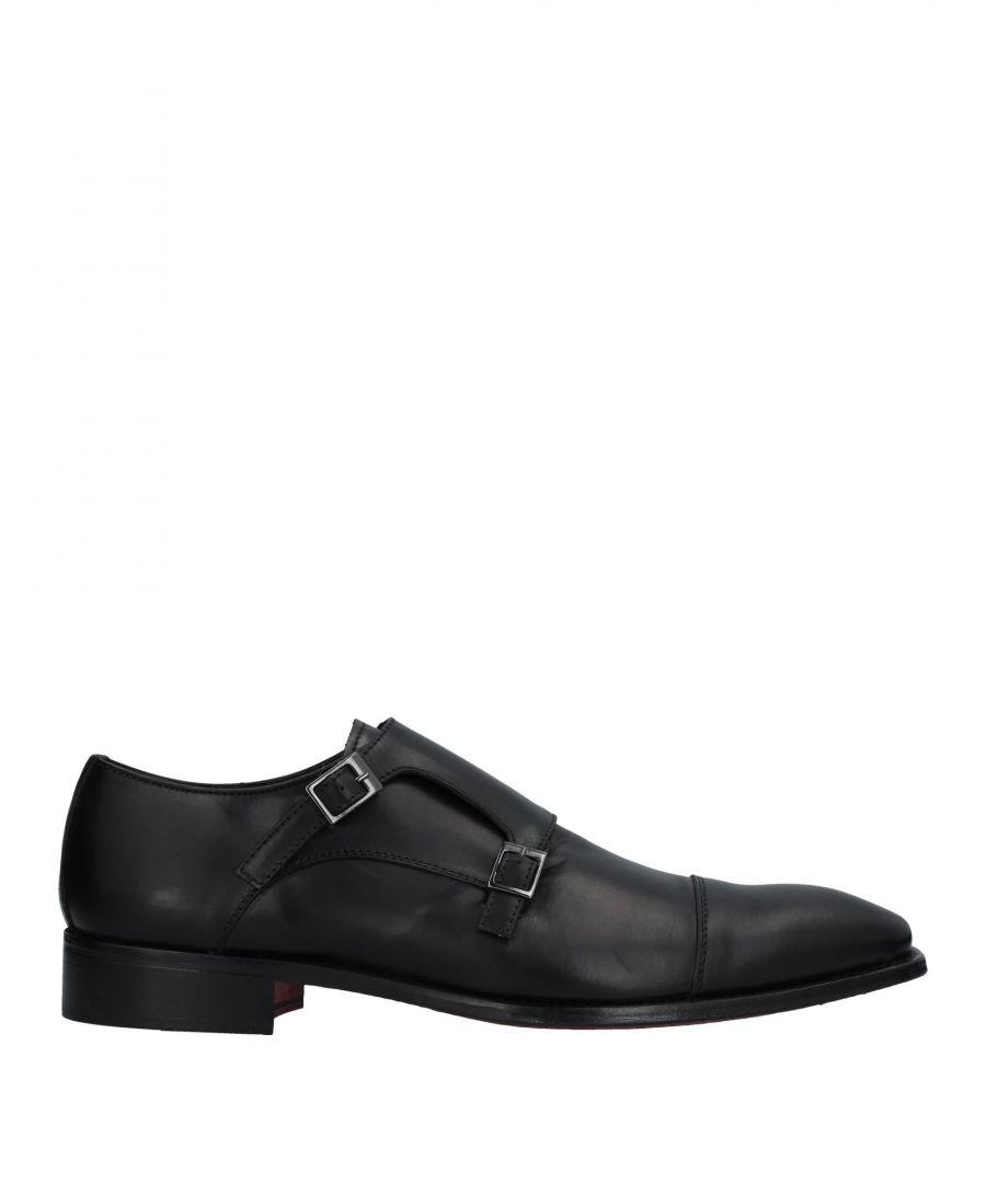 Image for Antonio Crisci Black Leather Double Monkstrap Shoes