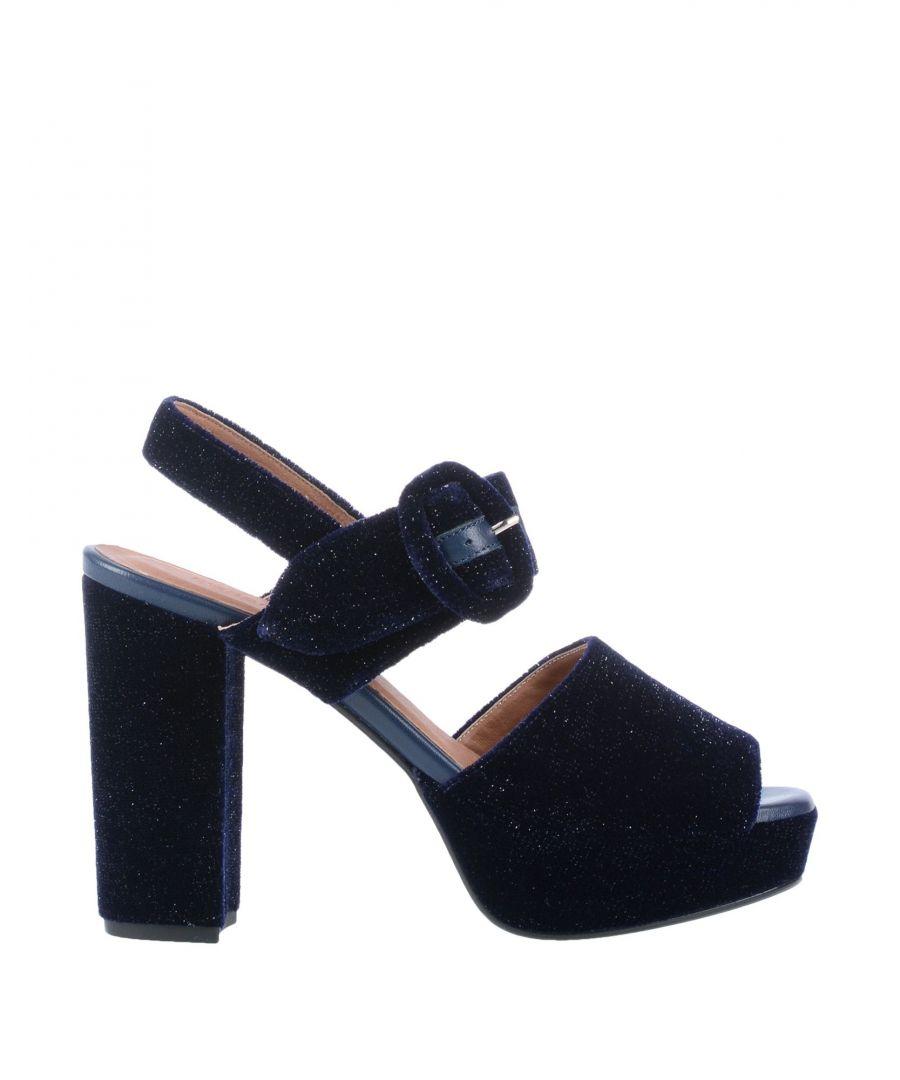 Image for Sessun Dark Blue Velvet Heeled Sandals