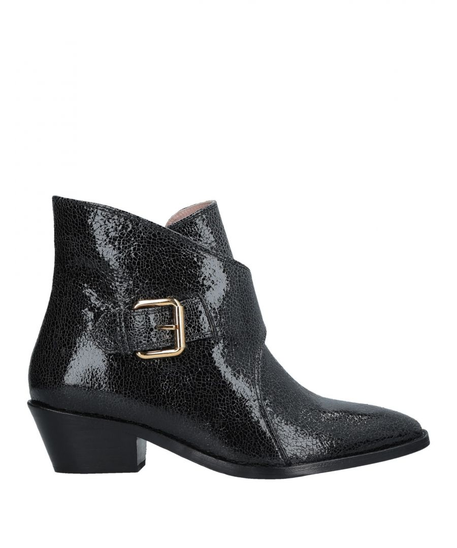 Image for Boutique Moschino Black Leather Ankle Boots