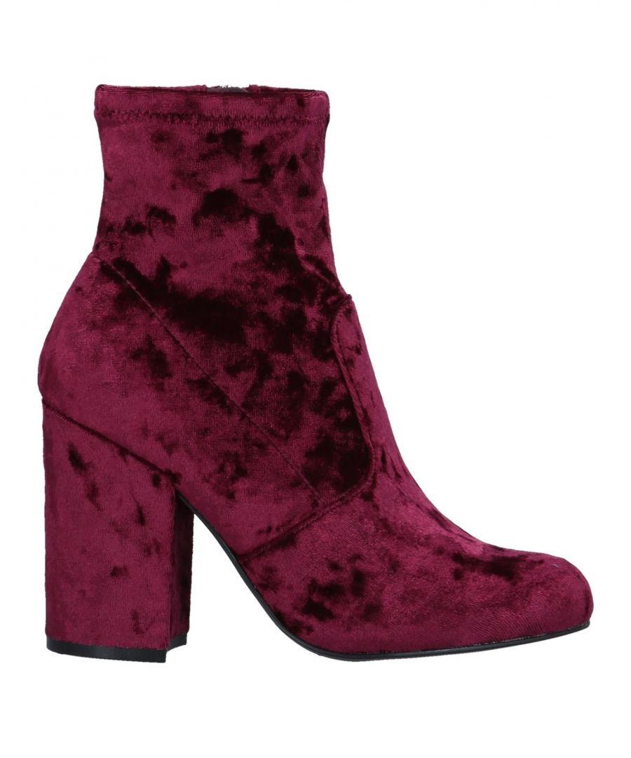Image for Steve Madden Maroon Velvet Ankle Boots