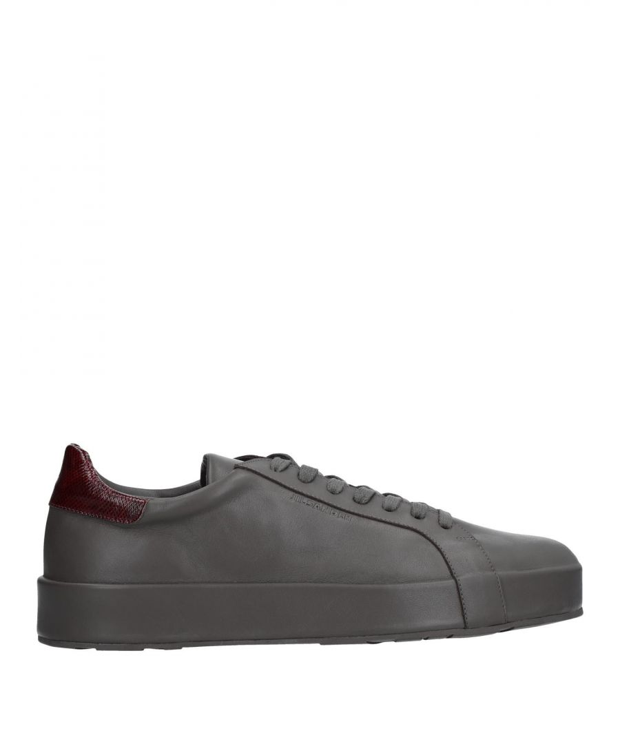 Image for Jil Sander Lead Leather Sneakers