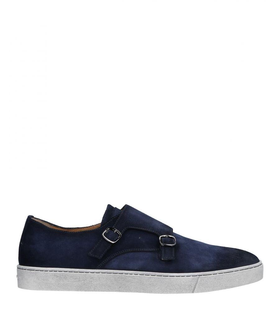 Image for Santoni Dark Blue Leather Monkstrap