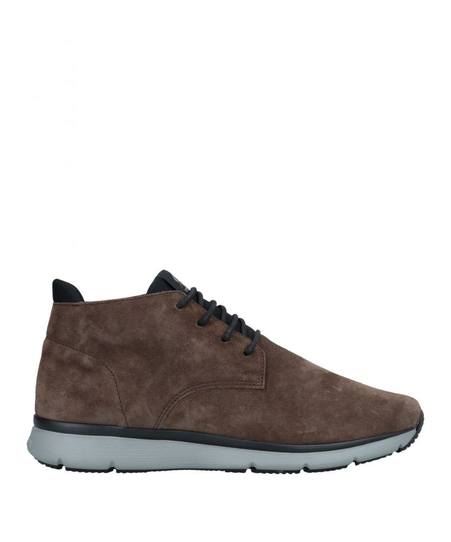 Image for Hogan Khaki Leather Sneakers