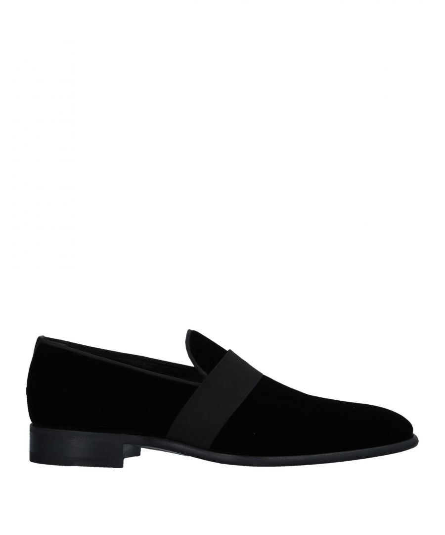 Image for Santoni Black Velvet Loafers