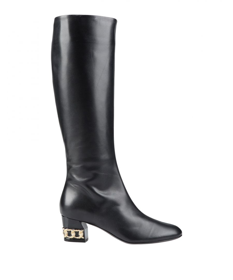 Image for Casadei Black Leather Boots