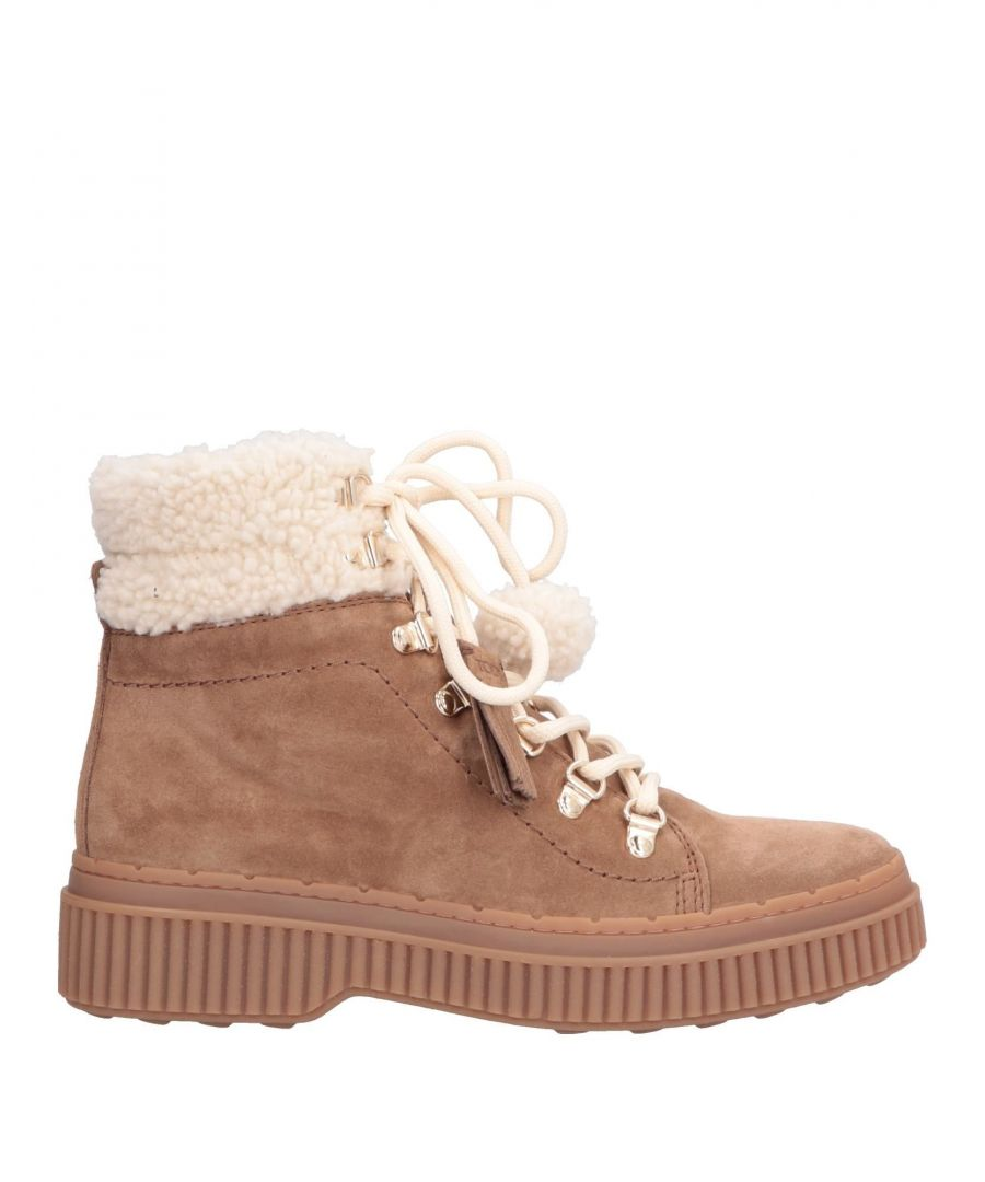 Image for Tod's Khaki Sheepskin Boots