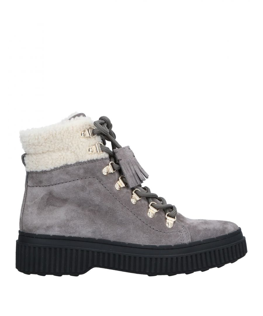 Image for Tod's Grey Suede Lace Up Boots