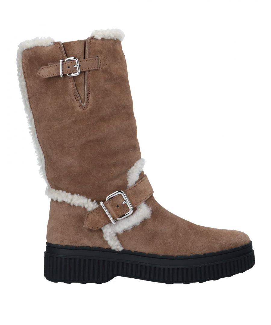 Image for Tod's Beige Sheepskin Boots