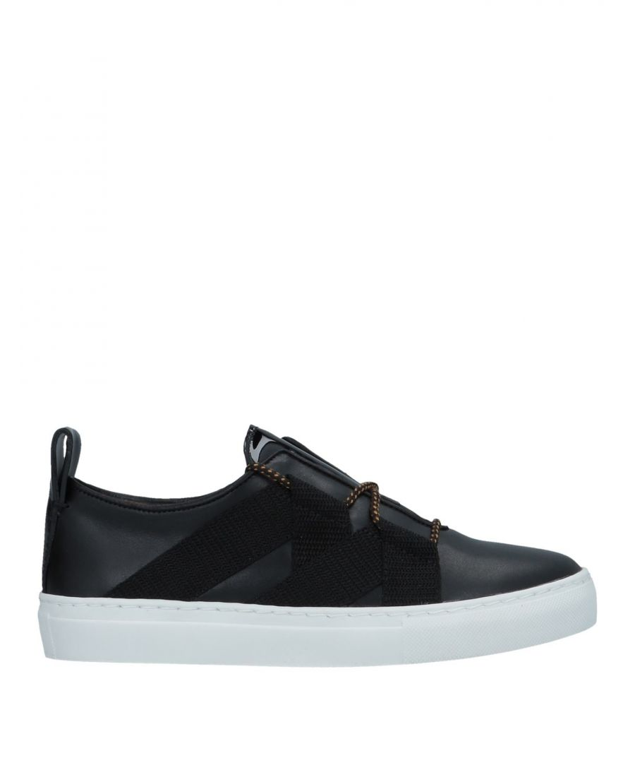 Image for By Malene Birger Black Leather Sneakers